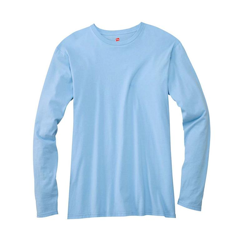 Hanes 498L Nano-T 4.5 oz 100% Cotton Long Sleeve Tee Shirts